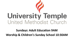 University Temple United Methodist Church logo