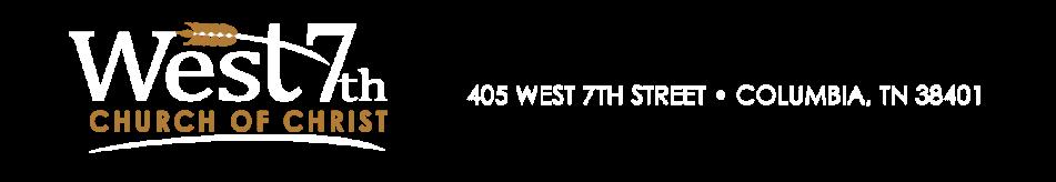 West 7th Street Church of Christ logo